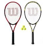 Wilson - Federer und Tour Tennis Schläger Set + 3 Tennis Bälle