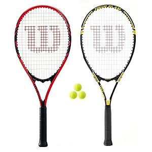Wilson – Federer und Tour Tennis Schläger Set + 3 Tennis Bälle