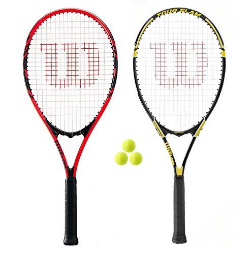 Wilson - Federer und Tour Tennis Schläger Set + 3 Tennis - Männer Tennisschläger