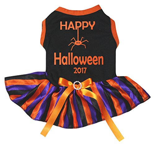 petitebelle Puppy Kleidung Hund Kleid Halloween 2017 schwarz Top Violett Orange Tutu