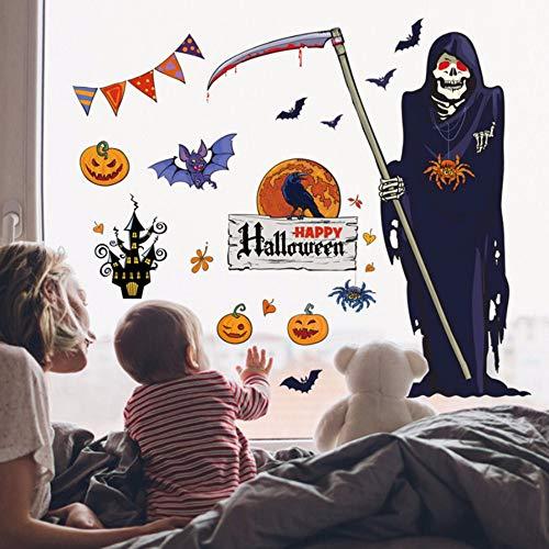 Ayhuir Neue 60X90 Cm Halloween Hexe Hintergrund Dekoriert Wohnzimmer Schlafzimmer Wandaufkleber Sensenmann Wandaufkleber