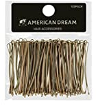 American Dream Straight Bobby Pins, Blonde 2-inch/ 5 cm - Pack of 100