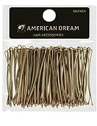 AMERICAN DREAM Pack of 100 x Haarnadeln - blond - glatt - 2 inch/5 cm Länge, 1er Pack (1 x 68 g)