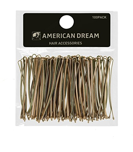 AMERICAN DREAM Pack of 100 x Haarnadeln - blond - glatt - 2 inch / 5 cm Länge, 1er Pack (1 x 68 g)