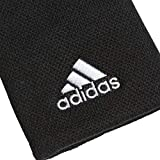 adidas Men's Tennis Large Wristband, Black/White, OSFM