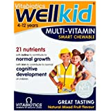 Vitabiotics Well Kid Chewable Smart Mulivitamins All Natural Flavours, 30 Chewable