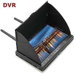 LCD5802D 5802 5.8G 40CH Monitor FPV de 7 pulgadas con batería incorporada DVR