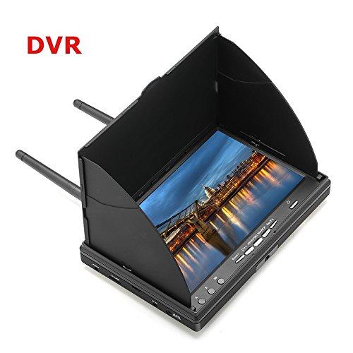 LCD5802D 5802 5.8G 40CH Monitor FPV 7 pulgadas batería