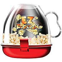 EZ Popcorn Maker Small Fast Easy Mini poppers Microwave Ware Kitchen Movie Famil