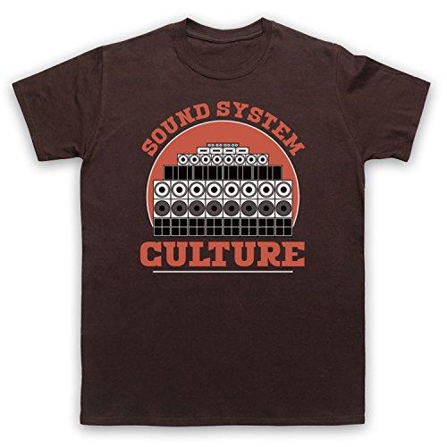 Sound System Culture Jamaican Reggae Ska Music DJs Herren T-Shirt Braun