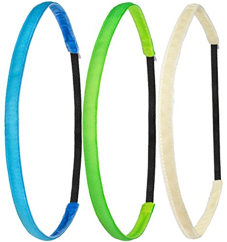 3ef7fe6359912b Ivybands® | Das Anti-Rutsch Haarband | Color Edition I | Neon Blau Grün