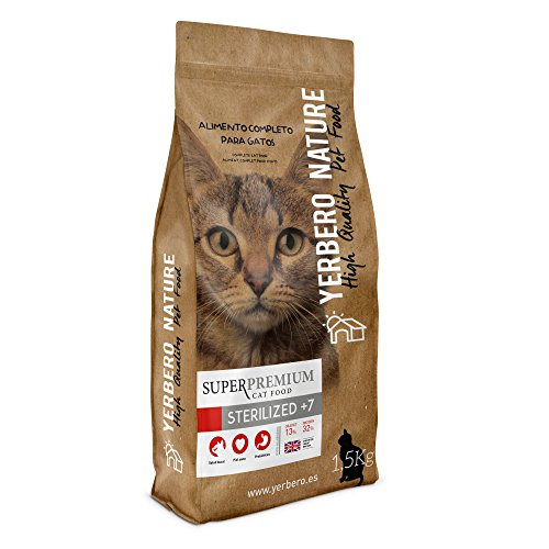 Yerbero NATURE STERILIZED+7 pienso superpremium para gatos 1.5 kg