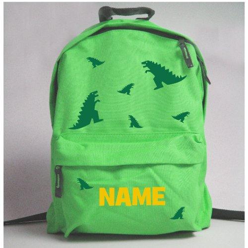 childrens-personalised-dinosaur-rucksack-green