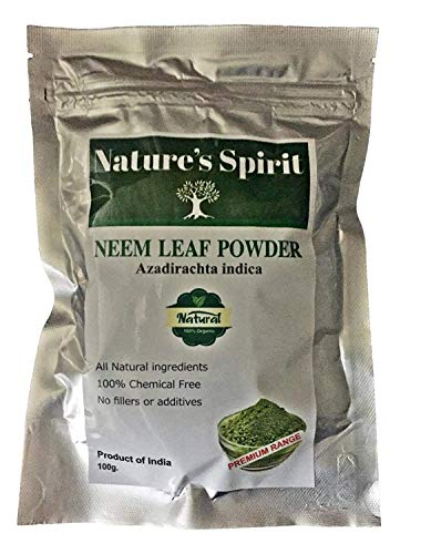 azadirachta - polvere a forma di foglia di neem, 100 g, completamente certificata, 100% naturale, senza sostanze chimiche, 100 g