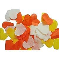 Herzform Konfetti Orange Weiß Gelb Hochzeit Geburtstag Konfetti, für Hand Craft (handgemacht Konfetti)