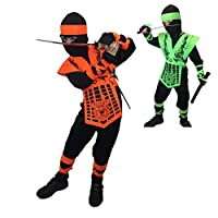 Rubber Johnnies TM Kids Neon Mortal Combat Ninja Costume Sub Zero GI JOE Fancy Dress