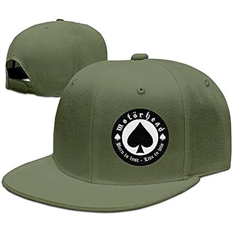 Volte Motà # Rhead British Heavy Metal Rock Band Poker Flat Bill gorra ajustable sombreros gorras de golf azul
