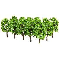 Kunststoff Modell Baum Zug Eisenbahn Landschaft 1: 150 20 Stk. Hellgrün