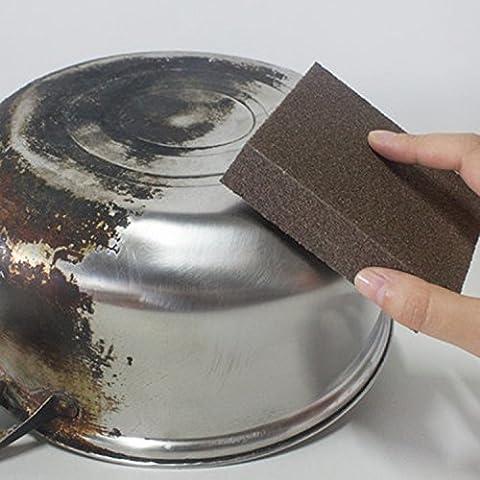 Caxmtu 3pcs Magic Carborundum Brosse Sanging éponge pour pot Théière bouilloire de détartrage Nettoyer à grande surface souple