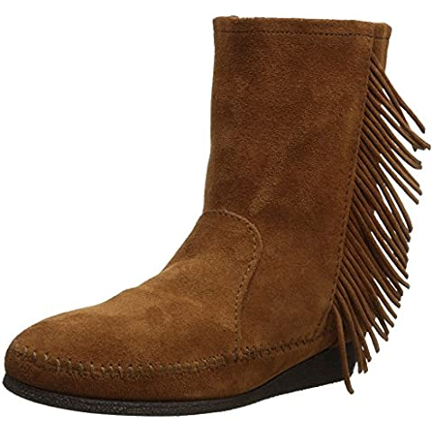 Minnetonka Side Fringe Wedge Boot - Mocasines