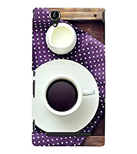 Cup and Saucer 3D Hard Polycarbonate Designer Back Case Cover for Sony Xperia T2 Ultra :: Sony Xperia T2 Ultra Dual SIM D5322 :: Sony Xperia T2 Ultra XM50h