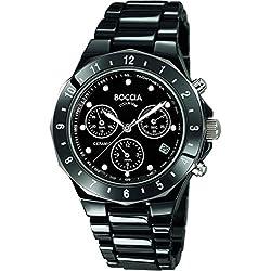 Boccia Herren-Armbanduhr Chronograph Quarz Keramik 3765-02