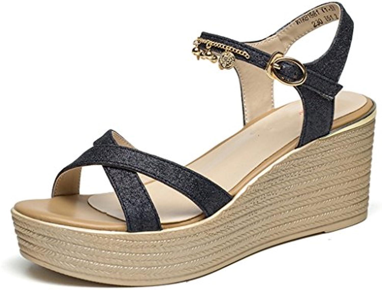 XINGMU Fondo De Lino Zapatos Zapatos De Mujer Paja Tejida Zapatos De Cáñamo De Pescadores De Mujeres Zapatos Zapatos... -