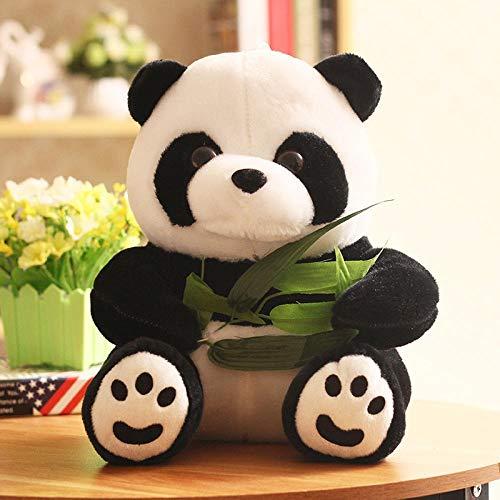 Großer Panda Plüschpuppe Auf Bambus-Blatt-Puppe Sitzen Kann Individuell Angepasst Werden Logo Hinzufügen Hyococ (Color : Panda, Size : 60 cm or so) -