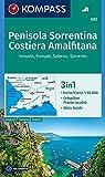 Penisola Sorrentina, Costiera Amalfitana, Vesuvio, Pompei, Salerno, Sorrento: 3in1 Wanderkarte 1:50000 mit Aktiv Guide und Ortsplänen. (KOMPASS-Wanderkarten, Band 682)