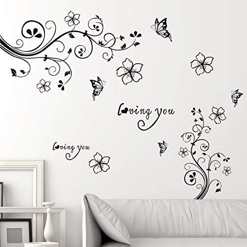 ische Tapete Schlafzimmer Wohnzimmer Wanddekoration Tapete Selbstklebende Elegante Blume Rebe 60 * 90 ()