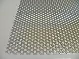 B&T Metall Aluminium Lochblech 1,5 mm stark Rundlochung Ø 6 mm versetzt RV 6-9 Größe 300 x 400 mm (30 x 40 cm)