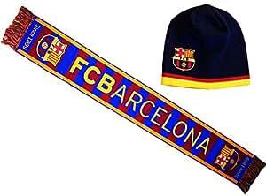 Coffret cadeau Echarpe + bonnet Barça - Collection officielle FC Barcelone