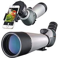 Landove Double Mise au Point Zoom Longue Vue, Spotting Scope, BAK4 coudé oculaire Télescope pour Observation tir tir à l'arc activités de Plein air