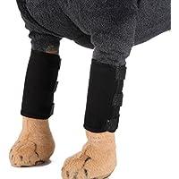 POPETPOP Manguito de Compresión Canina para Perros Proteger el Vendaje para heridas para heridas con Cicatrización y Protección contra esguince Tamaño M (Negro)