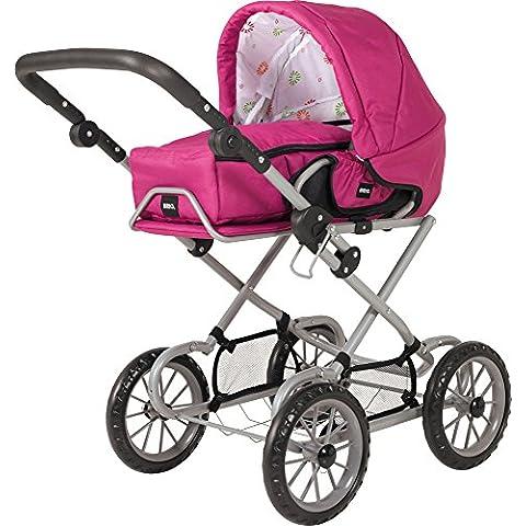 Brio - Cochecito para muñeca convertible, color rosa (24891314)