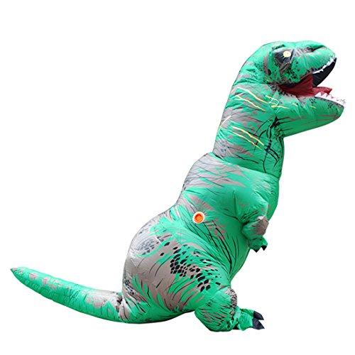 Triseaman Erwachsene Halloween Kostüm T-REX Blow Up Cosplay Aufblasbarer Dinosaurier Grün