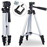 BPS Kamera Stativ 108cm (42,5') Video Tripod Stative Universal leichte Aluminiumstativ mit Tragetasche für alle Kameras der Marke mit Handyadapter für alle Smartphon