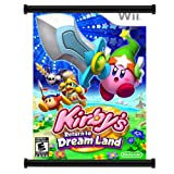 Kirbys Return to Dreamland Game Fabric Wall Scroll Poster (16x22) Inches
