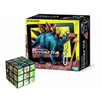 The Good Gift Shop Stegosaurus DNA A Smart Way To Learn About Biology - Comes with a Fun Wild Animal Magic Cube