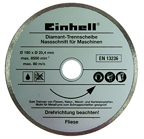 Einhell TH-TC 618 600w Tile Cutter with an Innovative Water Cooling System includes diamond blade