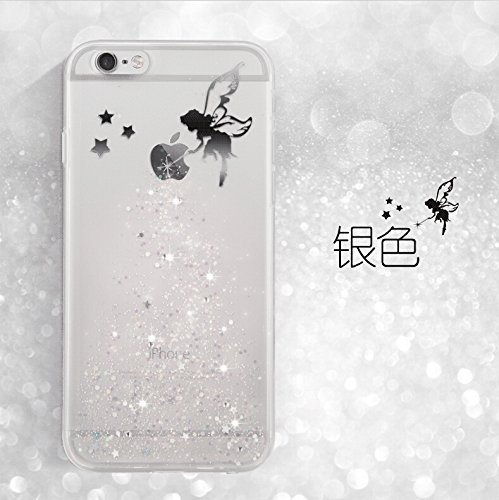 iPhone 7 Hülle,iPhone 7 Case Cover,Sunroyal iPhone 7 / iPhone 8 Transparent Sparklers Hülle TPU Case Schutzhülle Silikon Crystal Case Durchsichtig,Silber Glänzend Glitzer Kristall Luxus Bling Star Ult Pattern 07