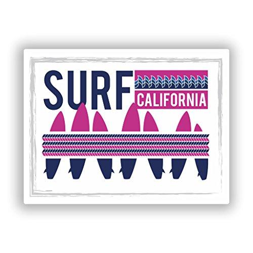2x Pegatinas vinilo Surf California equipaje