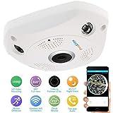 ProElite F01A 1.3 MP 960p Fisheye 360° Panoramic Wireless Wifi HD IP CCTV Security Camera with SD Card Slot