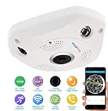 #7: ProElite F01A 1.3 MP 960p Fisheye 360° Panoramic Wireless Wifi HD IP CCTV Security Camera with SD Card Slot