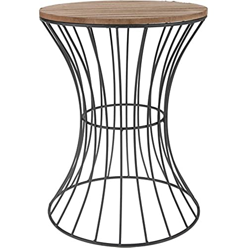 Wire side table amazon designer side table made from metal with wooden table plate decorative table with curved metal frame woodmetal black 395 cm x 30 cm greentooth Images
