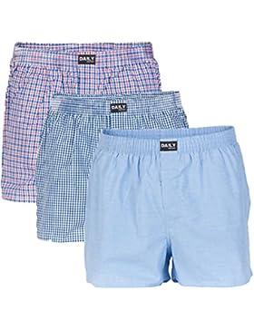 Daily Underwear Herren Webboxer Boxershorts 3er Pack - S - 5XL - Übergrößen