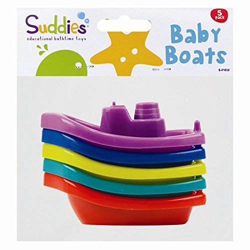 5pc-assorted-colours-baby-bath-time-toy-boats-infant-toddler-floats-safe-play