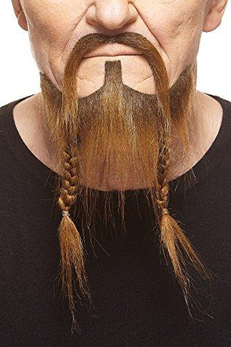 er brauner Piraten fälschen, selbstklebend Bart mit Schnurrbart ()