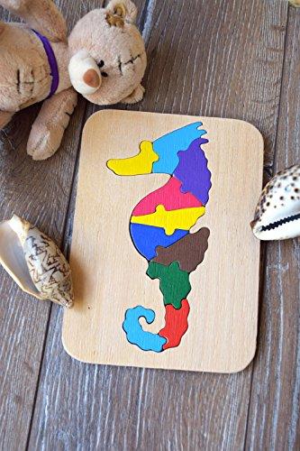 Seepferdchen Puzzle Montessori Kleinkind Spiel Baby