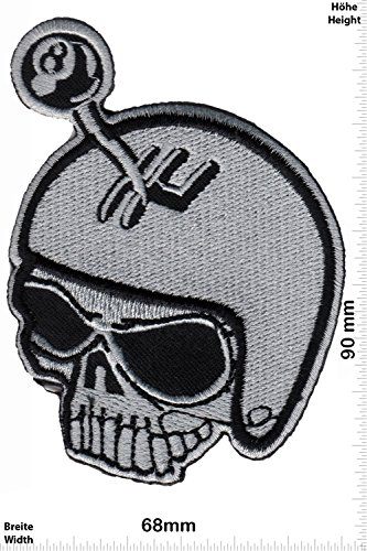 Patch-Iron-Totenkopf - Lucky 8 - hot rod - Gangschaltung - HQ - - Oldschool - - Iron On Patches - Aufnäher Embleme Bügelbild Aufbügler